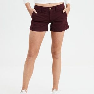 Stretchy Maroon Shorts from American Eagle